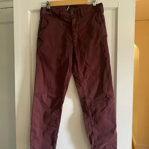 American Eagle, Burgundy, Slim Straight, 28x30
